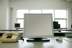 Lcd monitor with telephone Stock Images