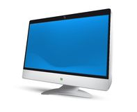 LCD monitor. Vector Illustration. EPS8 Royalty Free Stock Images