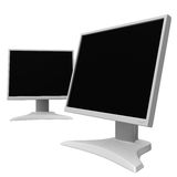 LCD monitors 10. Rendered LCD displays royalty free illustration