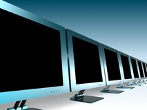 LCD MONITORS. 3d model of lcd monitors Stock Images