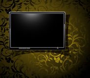 LCD panel with vintage background Stock Photo
