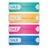 Sale banners. On white background Stock Photo