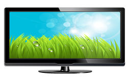 Lcd plasma tv Royalty Free Stock Image