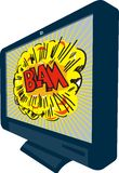LCD Plasma TV Television Blam Royalty Free Stock Image