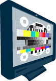 LCD Plasma TV Television Test Pattern Stock Image