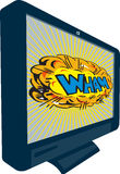 LCD Plasma TV Television Wham Royalty Free Stock Images