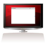 LCD red web browser monitor Royalty Free Stock Image