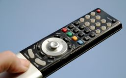 LCD Remote Control 09. Close up image of an lcd television remote control Stock Photography