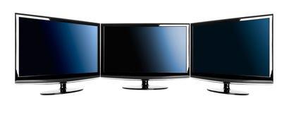 LCD s τρία TV Στοκ εικόνα με δικαίωμα ελεύθερης χρήσης