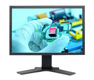 LCD S-PVA HD display panel Stock Images