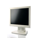 LCD screen. Over a white background Stock Image