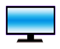 LCD screen. LCD panel drawn from the computer to use in a wide range Royalty Free Stock Photo