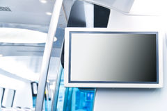LCD Screen announcement in public transportation Stock Image