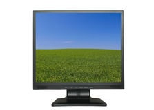 LCD screen with beautiful wallpaper Royalty Free Stock Photos