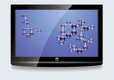 LCD screen with blue display Stock Image