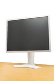 LCD screen on desk Stock Photos