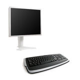 LCD screen and keyboard Royalty Free Stock Photos