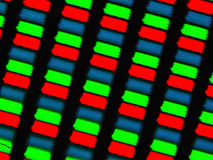 LCD screen micrograph Royalty Free Stock Photos
