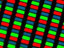 LCD screen micrograph. Light photomicrograph of a mobile LCD screen seen through a microscope Royalty Free Stock Photos