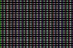 LCD screen pixels triads closeup Royalty Free Stock Image