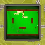 LCD screen with retro style game generated texture Royalty Free Stock Photos