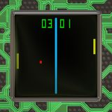 LCD screen with retro style game generated texture Stock Image