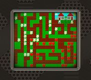 LCD screen with retro style game generated texture royalty free illustration