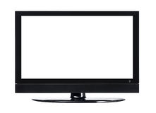 LCD screen TV with white background Royalty Free Stock Photo