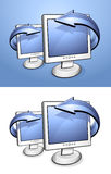 LCD screens Stock Photo