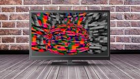 Lcd-skärm med statisk elektricitet stock video