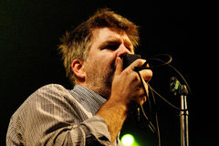 LCD Soundsystem (band) performs at Discotheque Razzmatazz. BARCELONA - NOV 6: LCD Soundsystem (band) performs at Discotheque Razzmatazz on November 6, 2010 in Stock Images