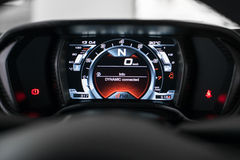 Lcd speedometer cluster Royalty Free Stock Images