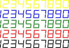 LCD Style Numbers Stock Photos