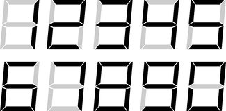 LCD Style Numbers Royalty Free Stock Photography