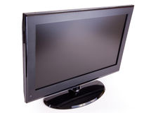 LCD T.V. Widescreen black LCD TV isolated on white Angel Royalty Free Stock Photos
