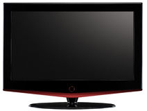 LCD televisie. stock foto's