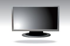 Lcd television. Lcd or plasma television on perspective view Stock Photos