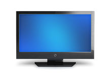 LCD Television. Isolated on white Royalty Free Stock Images