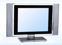 Lcd television. Modern lcd flat tft stereo hd tv television Royalty Free Stock Image