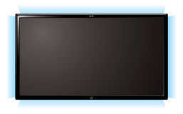 Lcd television glow Stock Image