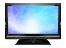 LCD Television monitor isolated on white background. LCD Television monitor isolated on white background Royalty Free Stock Photo