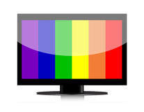 Lcd television with no signal Royalty Free Stock Photo