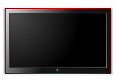 LCD television over white Stock Photo
