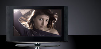 LCD Television Set Royalty Free Stock Photos
