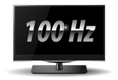 LCD TV 100Hz Royalty Free Stock Photo