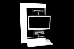 Lcd tv. Modern style shelf with lcd tv Royalty Free Stock Photo