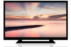 LCD-TV fotografering för bildbyråer