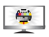 LCD TV royalty free stock photos