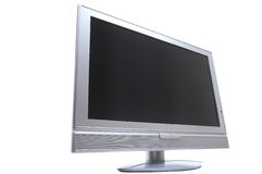 LCD- TV. Flatscreen TV clipping path included