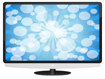 Lcd tv with abstract background Royalty Free Stock Photo